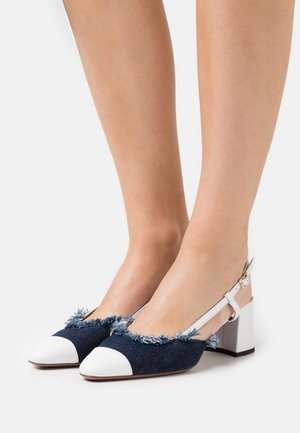 SLINGBACK - Tacones - white/jeans