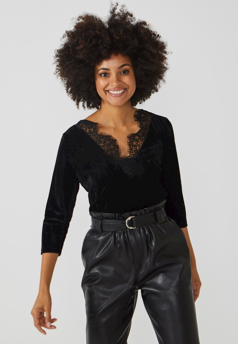 Aaiko - VINA UNI PES  - Long sleeved top - black