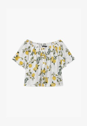 TEEN GIRLS LEMON OFF SHOULDER - T-shirt con stampa - stroh
