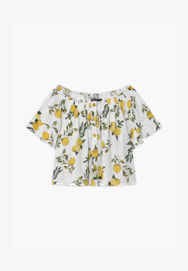 TEEN GIRLS LEMON OFF SHOULDER - T-shirt med print - stroh