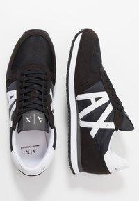 Armani Exchange - RUNNER - Trainers - black/white - 1