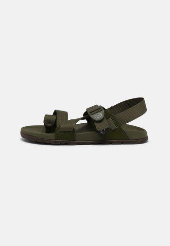 T-bar sandals - moss