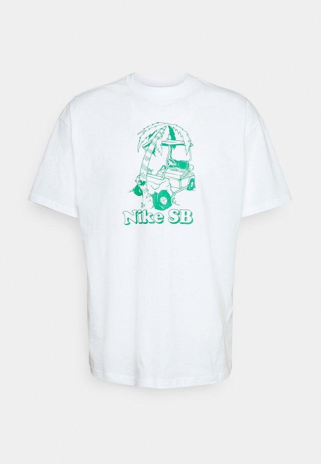 TEE WRECKED UNISEX - Print T-shirt - white