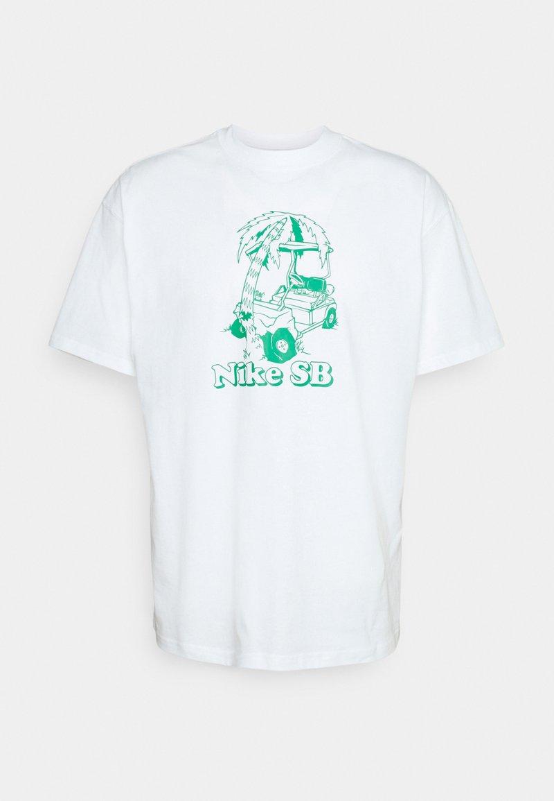 Nike SB - TEE WRECKED UNISEX - T-shirt med print - white