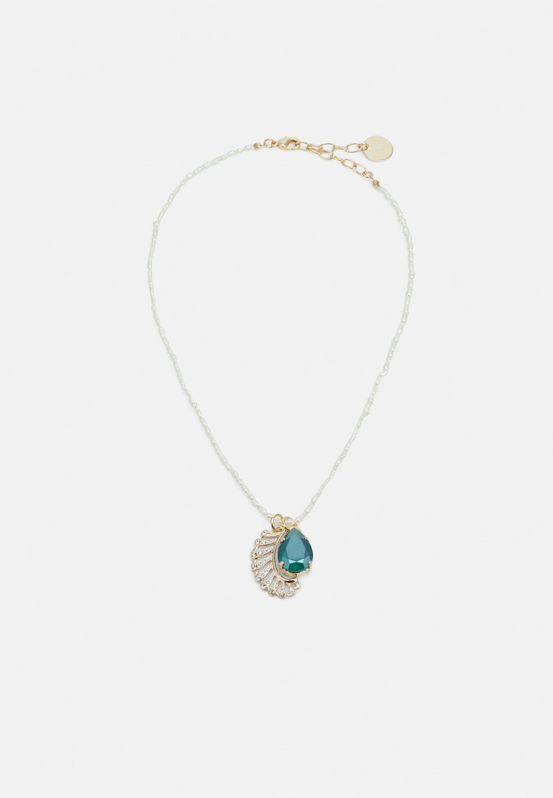 Anton Heunis - BEADED NECKLACE WITH CHARMS - Ketting - cream/seafoam green