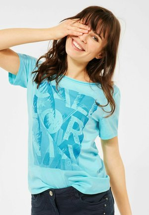 MIT PRINT - Print T-shirt - türkis