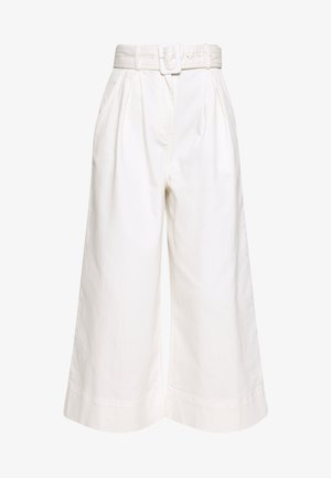 THE WIDE LEG PANT - Trousers - warm white