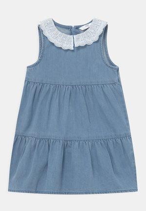COLLAR DRESS - Denim dress - blue denim