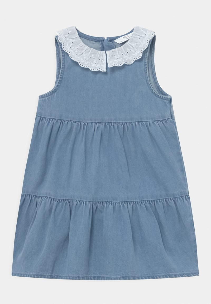 Marks & Spencer London - COLLAR DRESS - Denim dress - blue denim