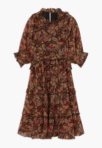 LENGTH DRESS WITH RUFFLES - Jurk - combo a copper