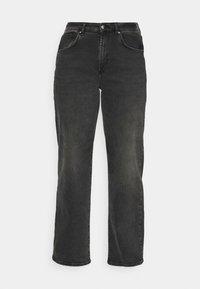 CARHOPEEX HIGH WIDE LEG REAINC - Straight leg jeans - black denim
