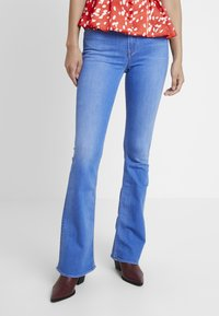 Kings Of Indigo - MARIE - Flared Jeans - blue denim - 0