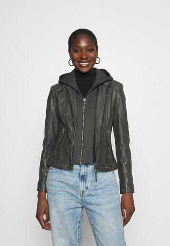 CACEY LEGV - Leather jacket - antracite