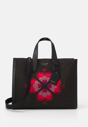 NEW EMBROIDERED FLOWER LARGE TOTE - Tote bag - black multi
