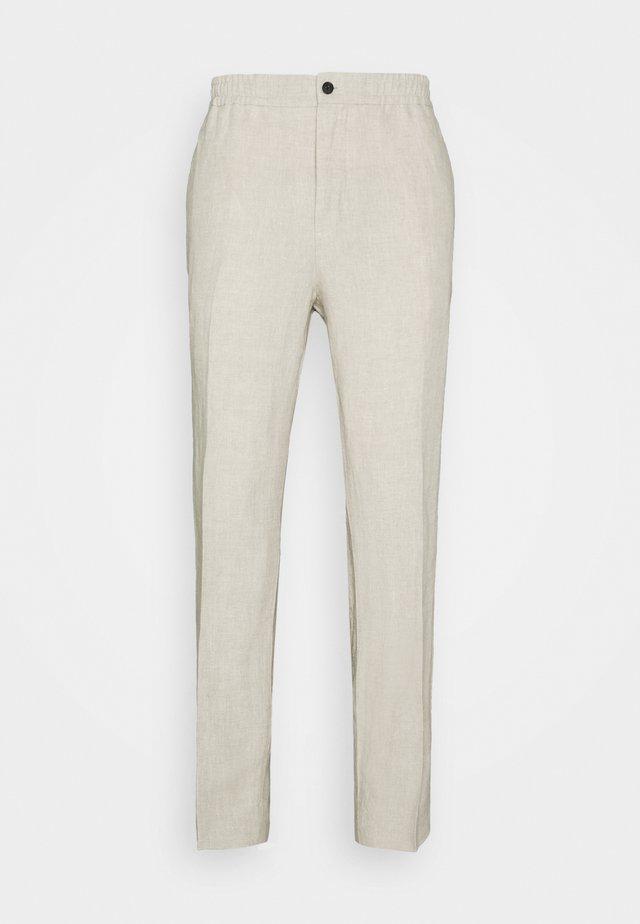 SASHA DRAPE PANTS - Pantaloni - sand melange