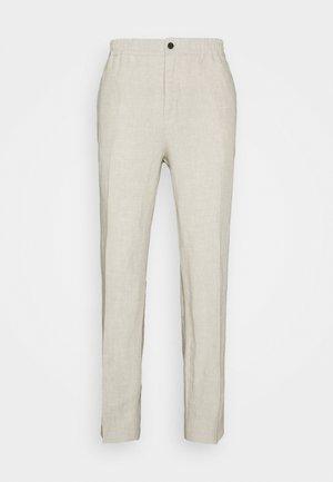 SASHA DRAPE PANTS - Kalhoty - sand melange