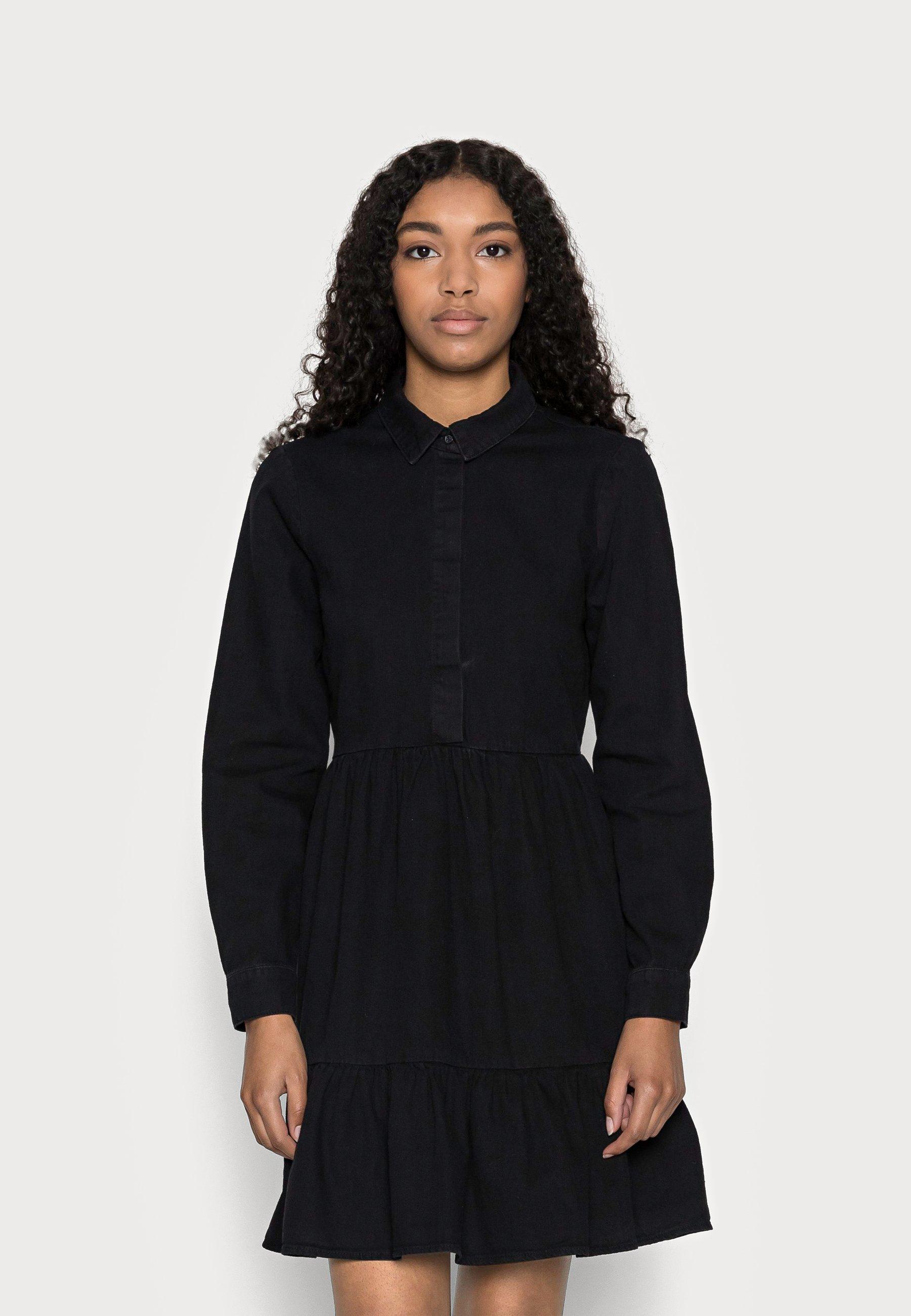 Women VMMARIA FRILL SHORT DRESS - Denim dress