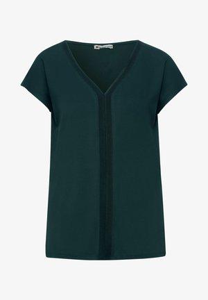MIT V-AUSSCHNITT - Print T-shirt - grün