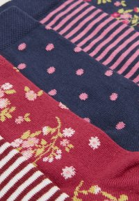Ewers - KIDS SOCKS FLOWERS DOTS STRIPES 6 PACK - Ponožky - marone/tinte - 1
