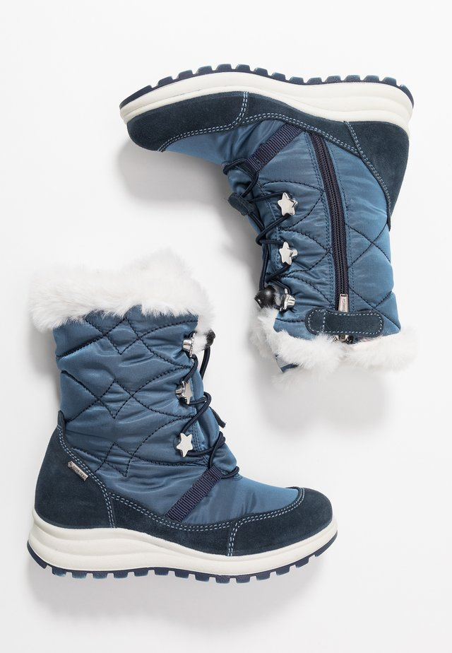 Winter boots - navy/jeans