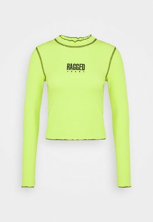 RIB LONG SLEEVE - Long sleeved top - lime