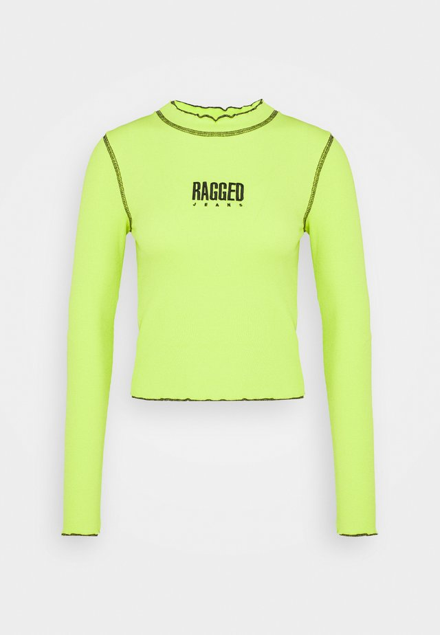RIB LONG SLEEVE - Longsleeve - lime