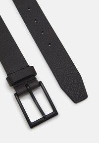 Zign - LEATHER UNISEX - Cintura - black - 1