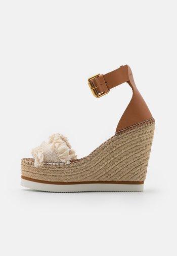 GLYN HIGH - High heeled sandals - natural