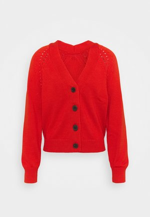 WIDE PLACKET SLOUCHY  - Strikjakke /Cardigans - grenadine orange
