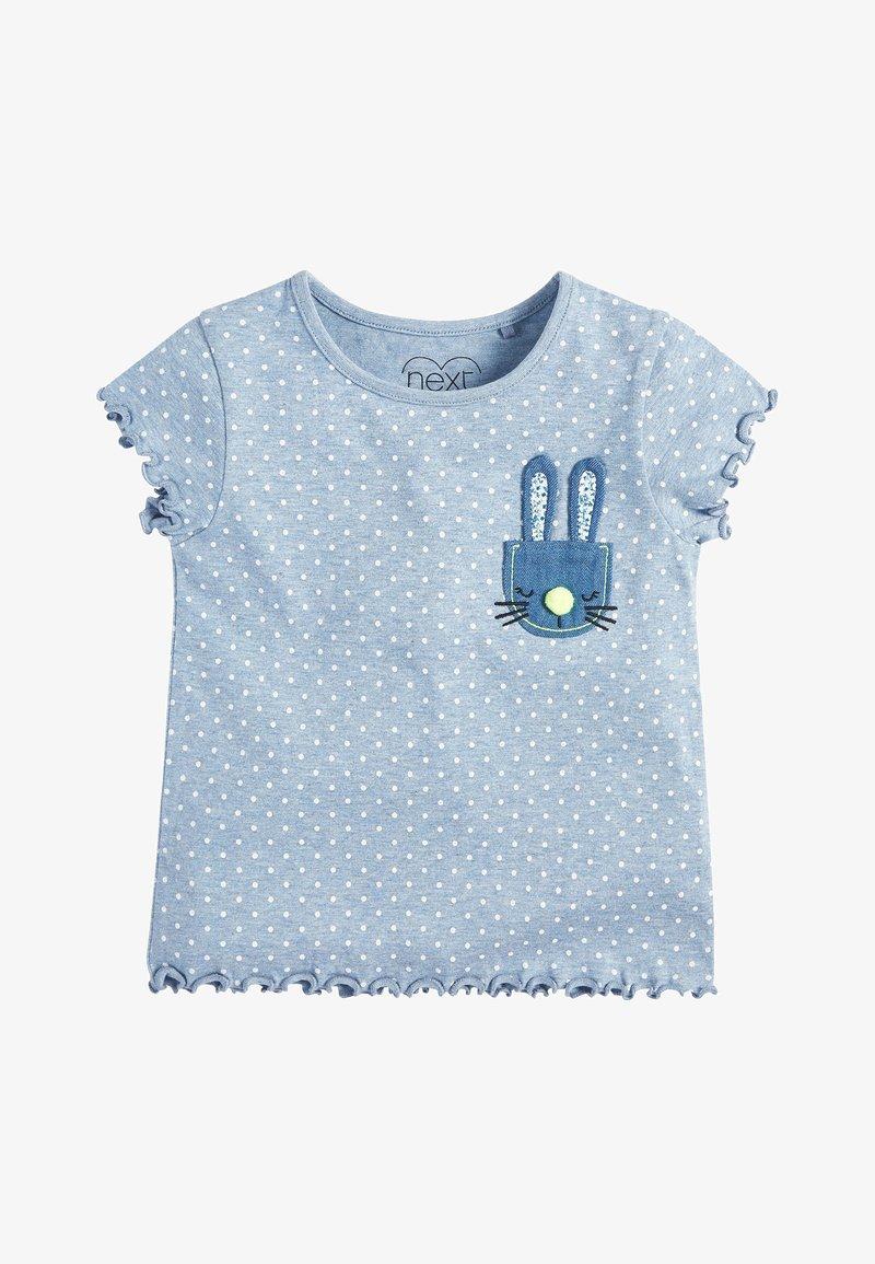 Next - BLUE SPOT BUNNY T-SHIRT (3MTHS-7YRS) - Print T-shirt - blue
