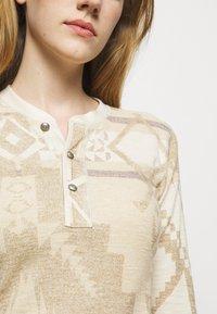 Polo Ralph Lauren - NOVELTY TEXTURE - Jumper dress - beige/multicoloured - 5