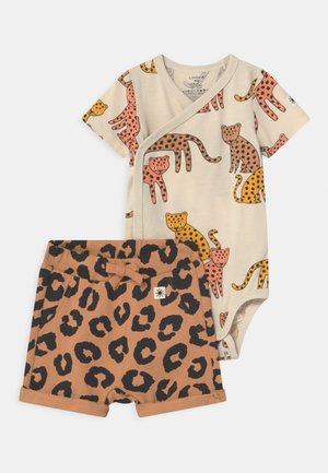 SET UNISEX - T-shirt print - dark beige