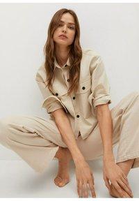 Mango - Button-down blouse - mittelbraun - 5