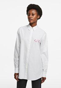 KARL LAGERFELD - LEGEND - Button-down blouse - white - 0
