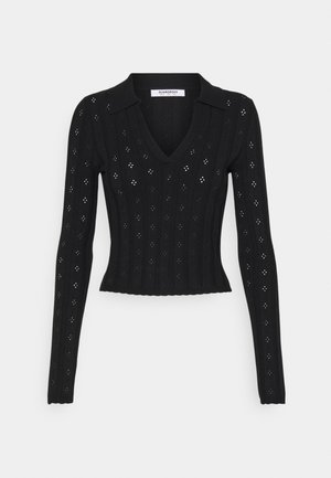 WITH LONG SLEEVES - Jumper - black
