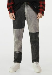 Bershka - Straight leg jeans - grey - 0