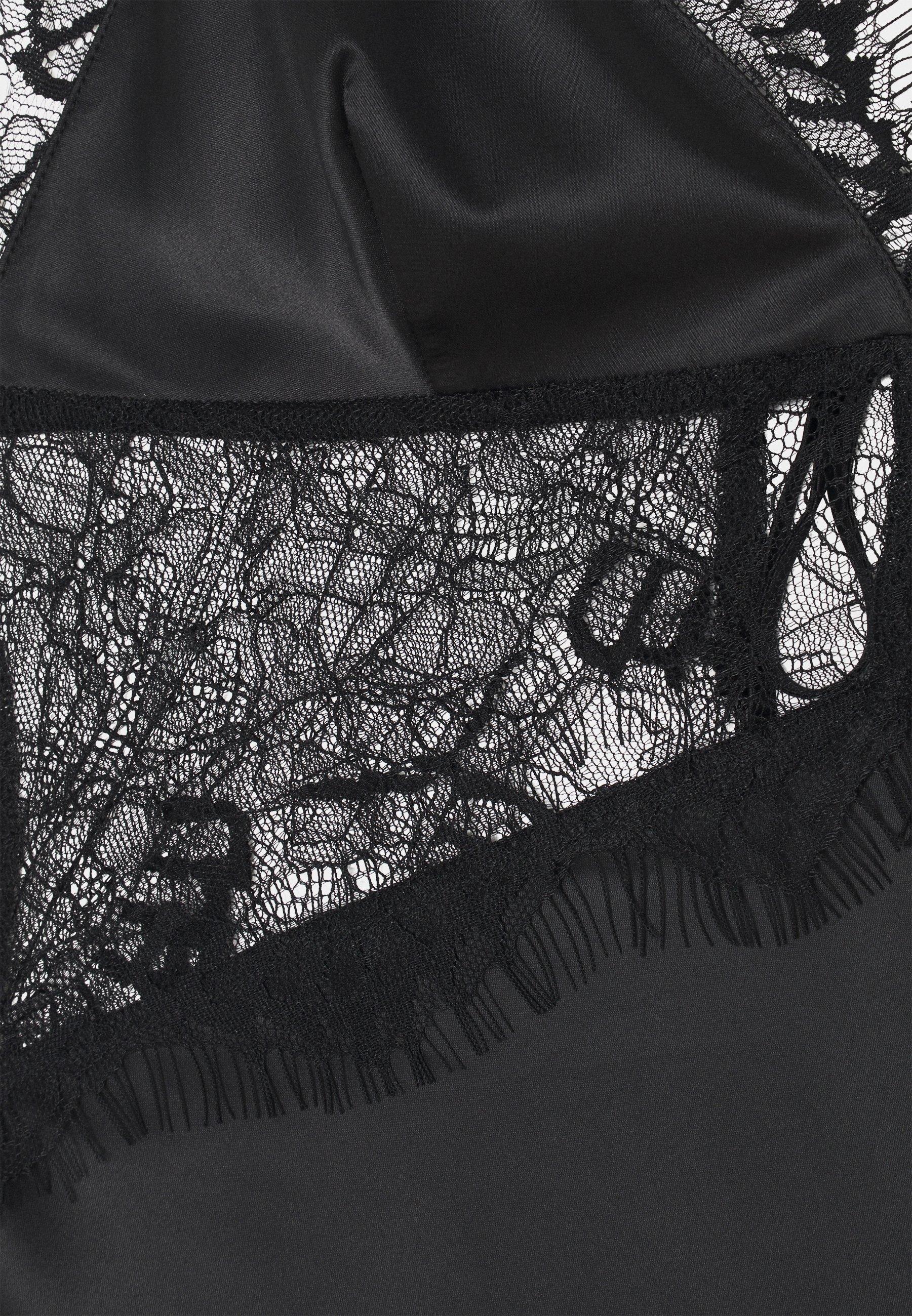 Intimo da donna Wolf & Whistle TRIANGLE SLIP DRESS Camicia da notte black