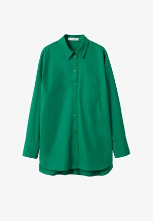 OVERSIZED - Button-down blouse - groen