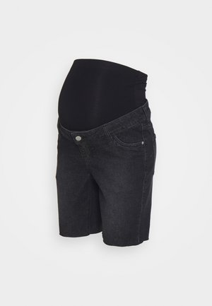 LONGER BOY  - Jeansshort - washed black