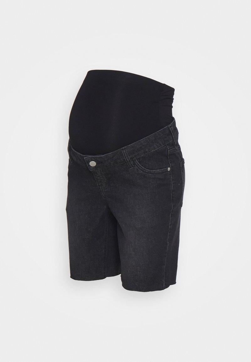 MAIAMAE - LONGER BOY  - Denim shorts - washed black