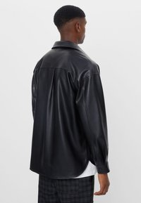 Bershka - Faux leather jacket - black - 2