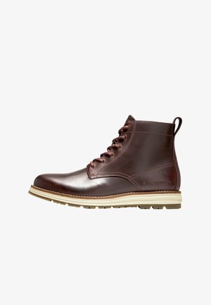 Lace-up ankle boots - chestnut leather