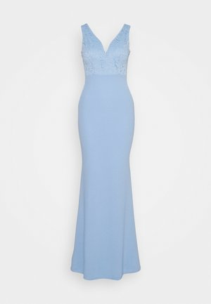 SLEEVLESS VNECK DRESS WITH SIDES - Gallakjole - blue