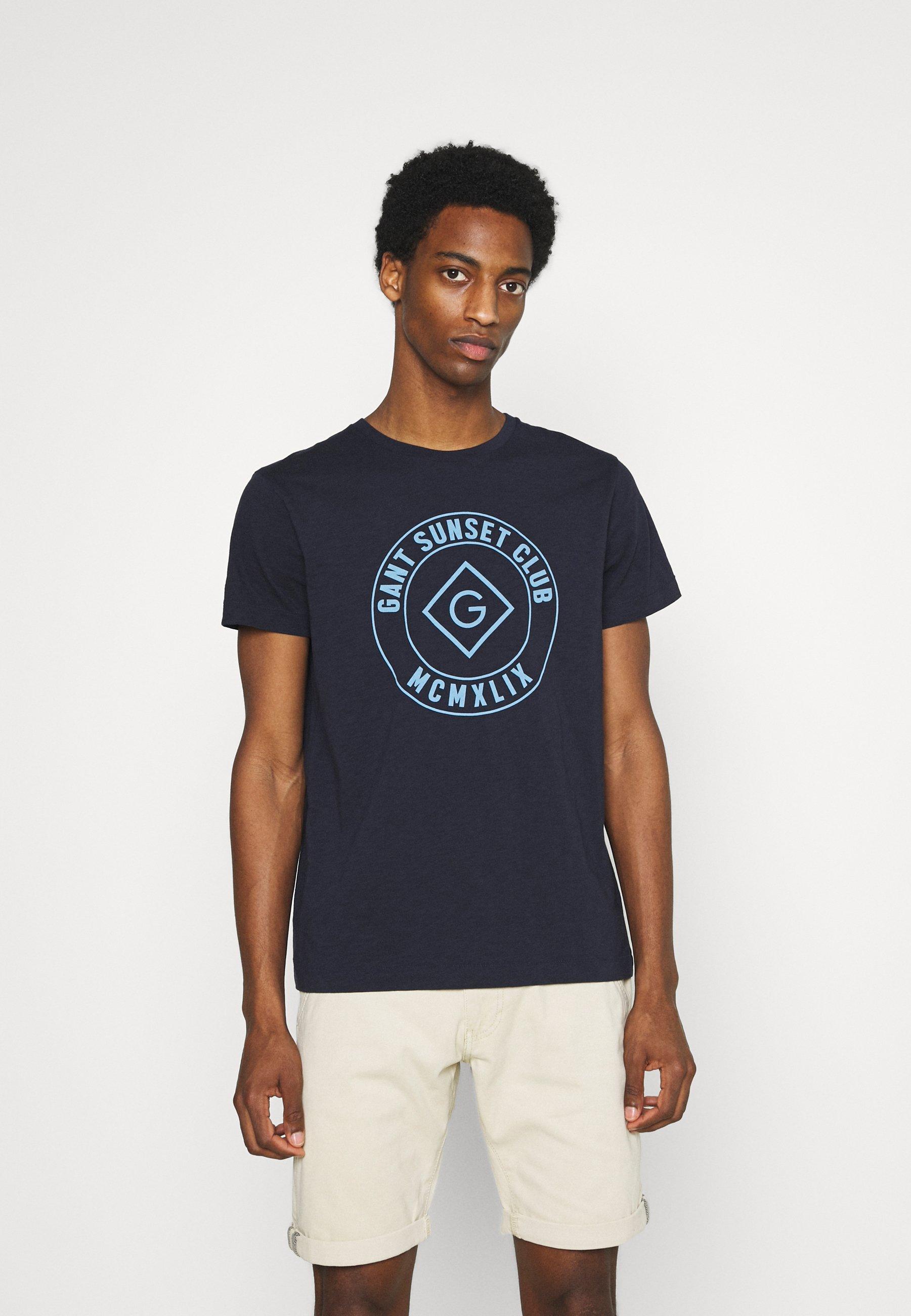 Men SUNSET CLUB - Print T-shirt