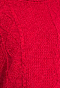 GAP - CABLE T NECK - Jumper - modern red - 2