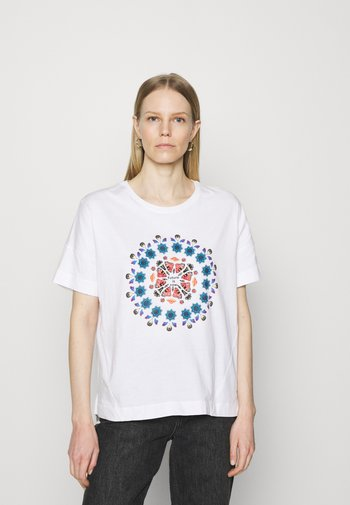 OVERSIZE GALACTIC - T-shirts med print - white
