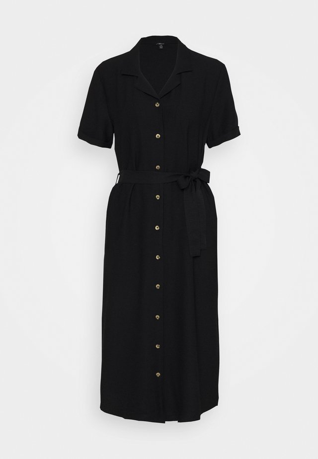 SHORT SLEEVE DRESS - Skjortekjole - black