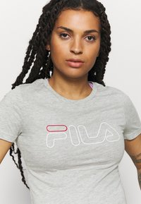 Fila - LADAN TEE - Print T-shirt - light grey - 4