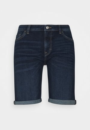 BASIC - Denim shorts - blue dark wash