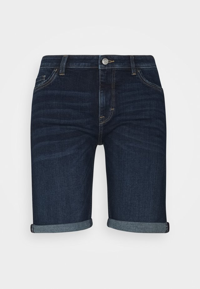 BASIC - Shorts di jeans - blue dark wash